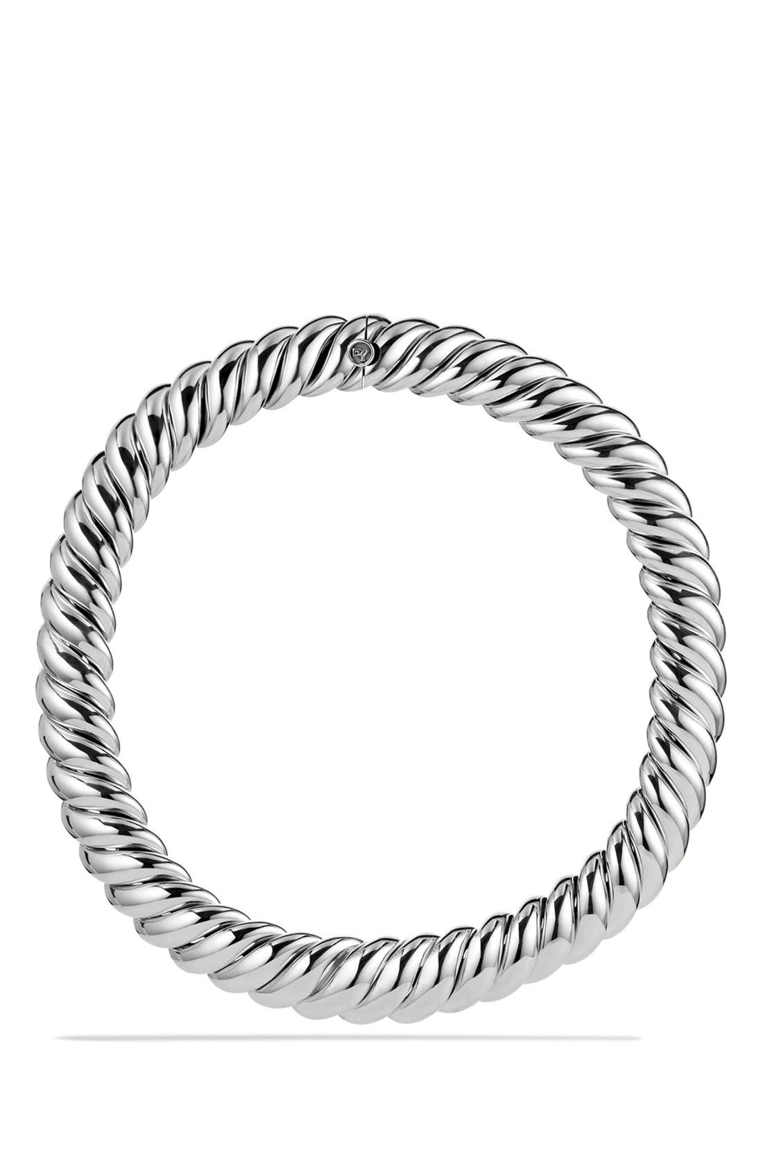 'Hampton Cable' Necklace,                         Main,                         color, Silver