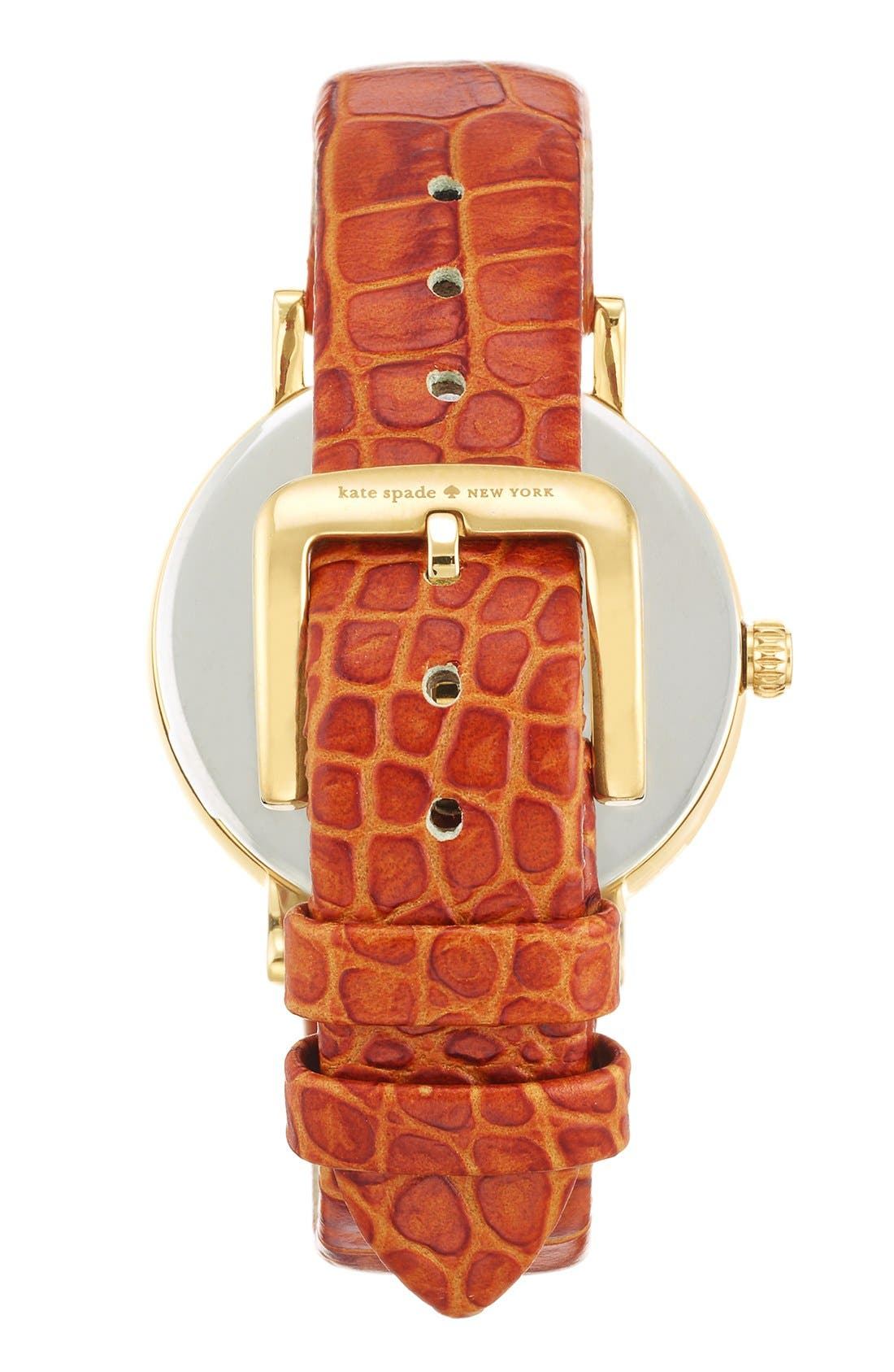 Alternate Image 4  - kate spade new york 'metro' embossed leather strap watch, 34mm