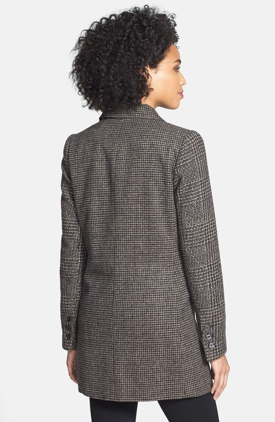 Alternate Image 2  - Laundry by Shelli Segal Tweed Single Breasted Reefer Coat
