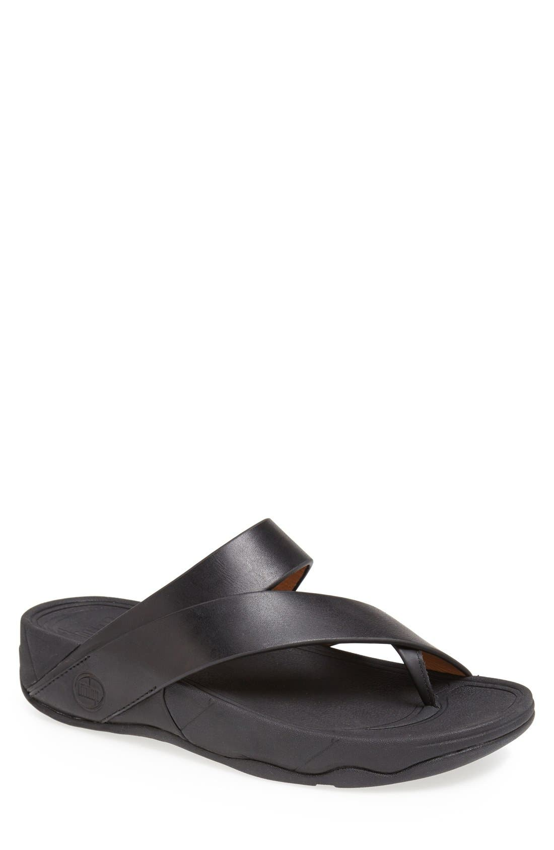 Alternate Image 1 Selected - FitFlop 'Sling' Leather Sandal (Men)