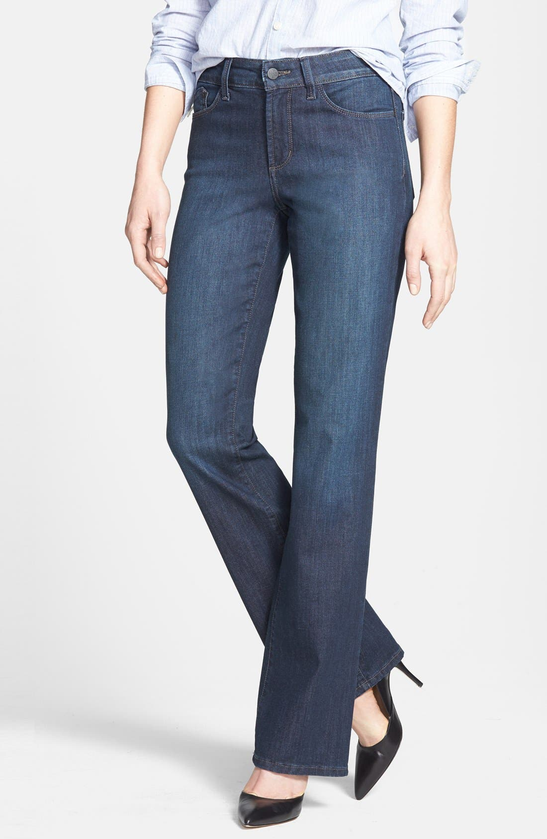 Main Image - NYDJ 'Barbara' Stretch Bootcut Jeans (Harrington) (Petite)