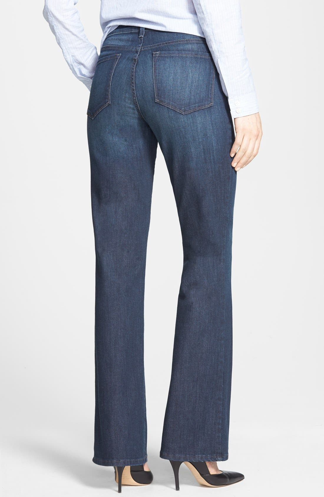 Alternate Image 2  - NYDJ 'Barbara' Stretch Bootcut Jeans (Harrington) (Petite)