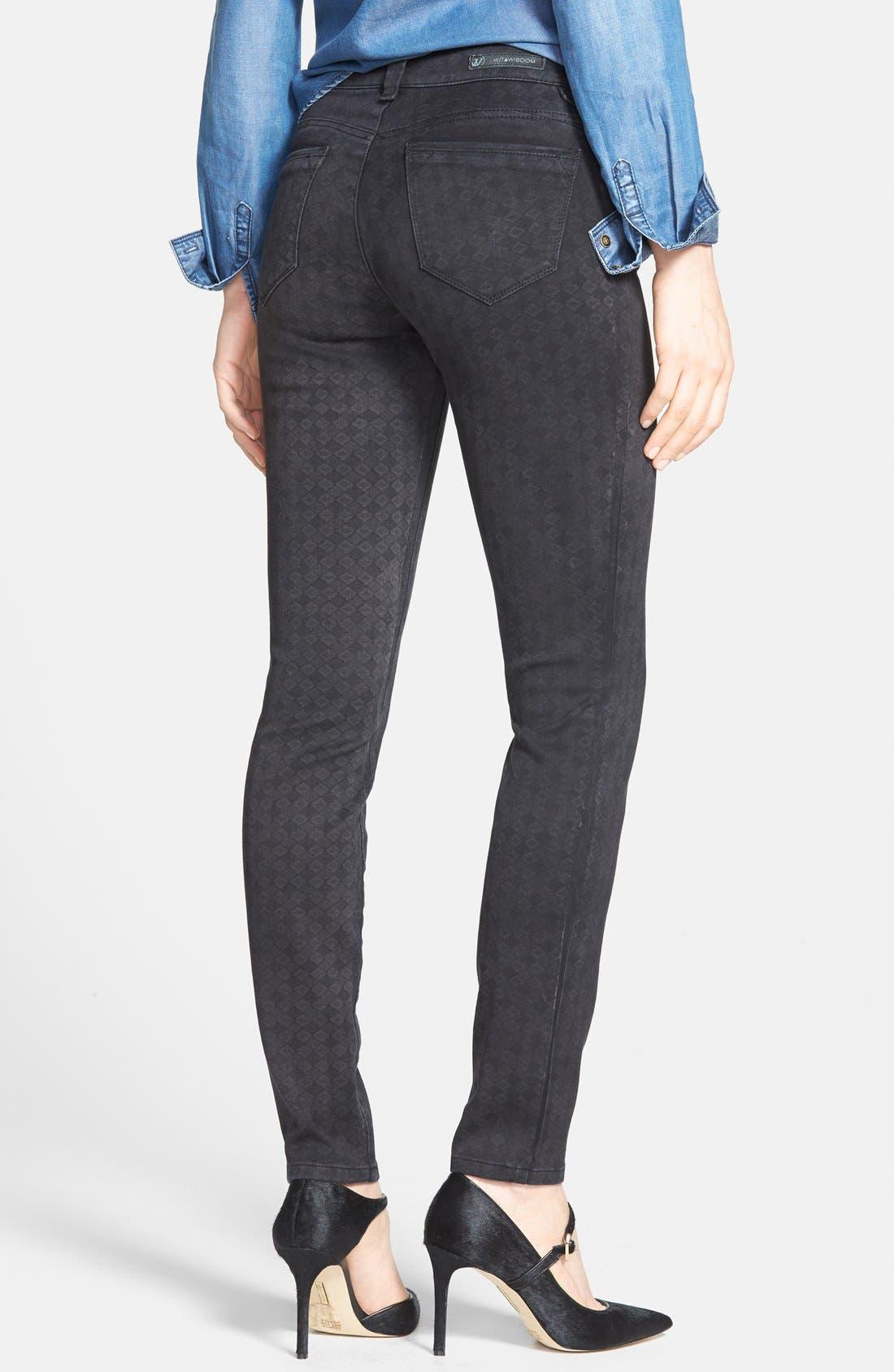Alternate Image 2  - Wit & Wisdom Diamond Stencil Skinny Jeans (Black) (Nordstrom Exclusive)