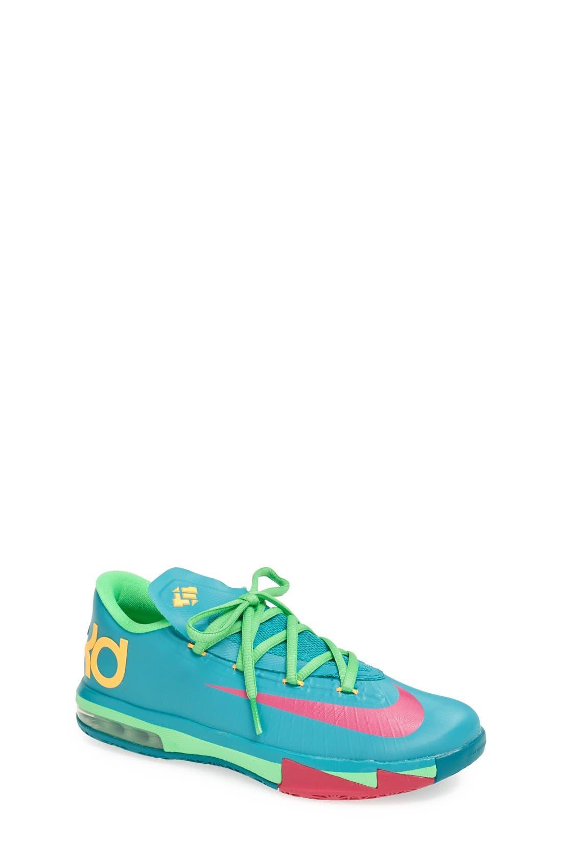 Alternate Image 1 Selected - Nike 'KD VI' Basketball Shoe (Big Kid)