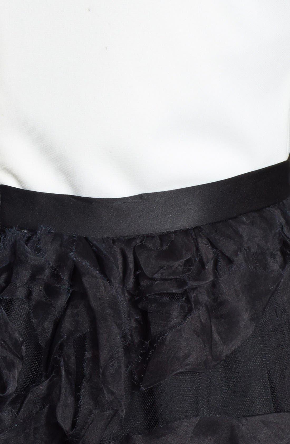 Alternate Image 3  - Aidan Mattox Sleeveless Ruffle Skirt Ballgown