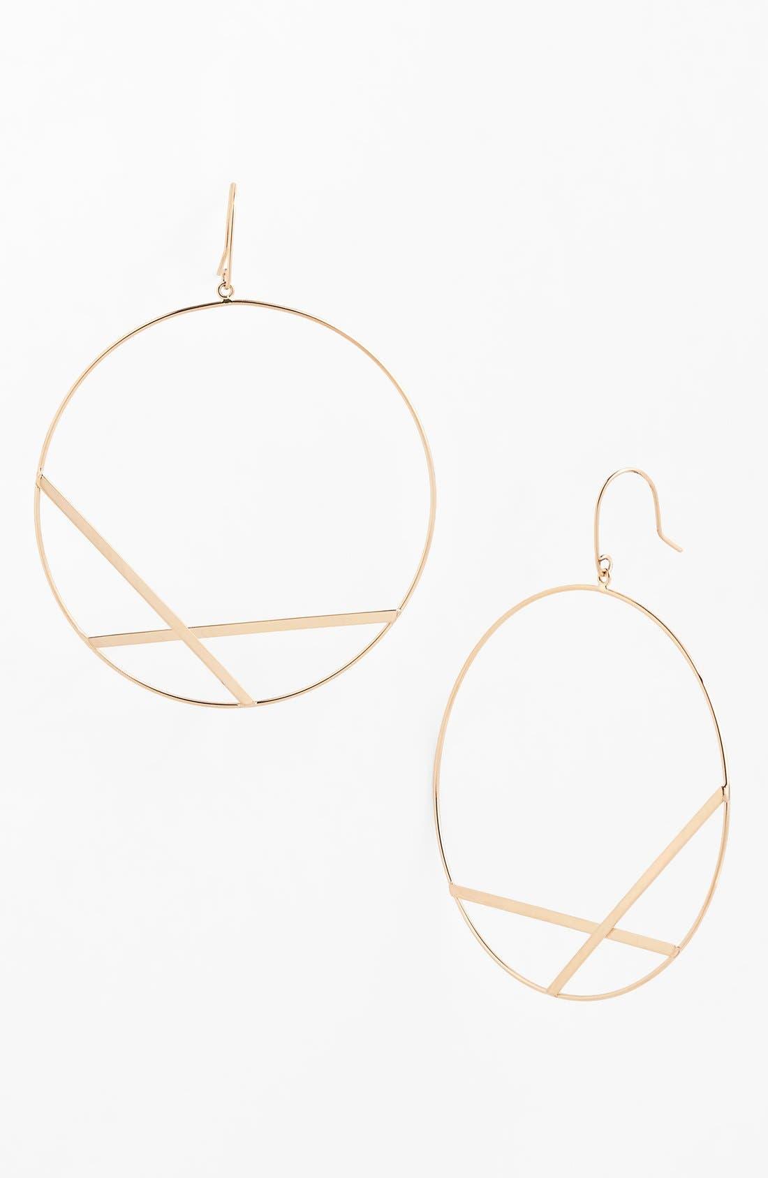 Alternate Image 1 Selected - Lana Jewelry 'Affinity' Large Drop Hoop Earrings