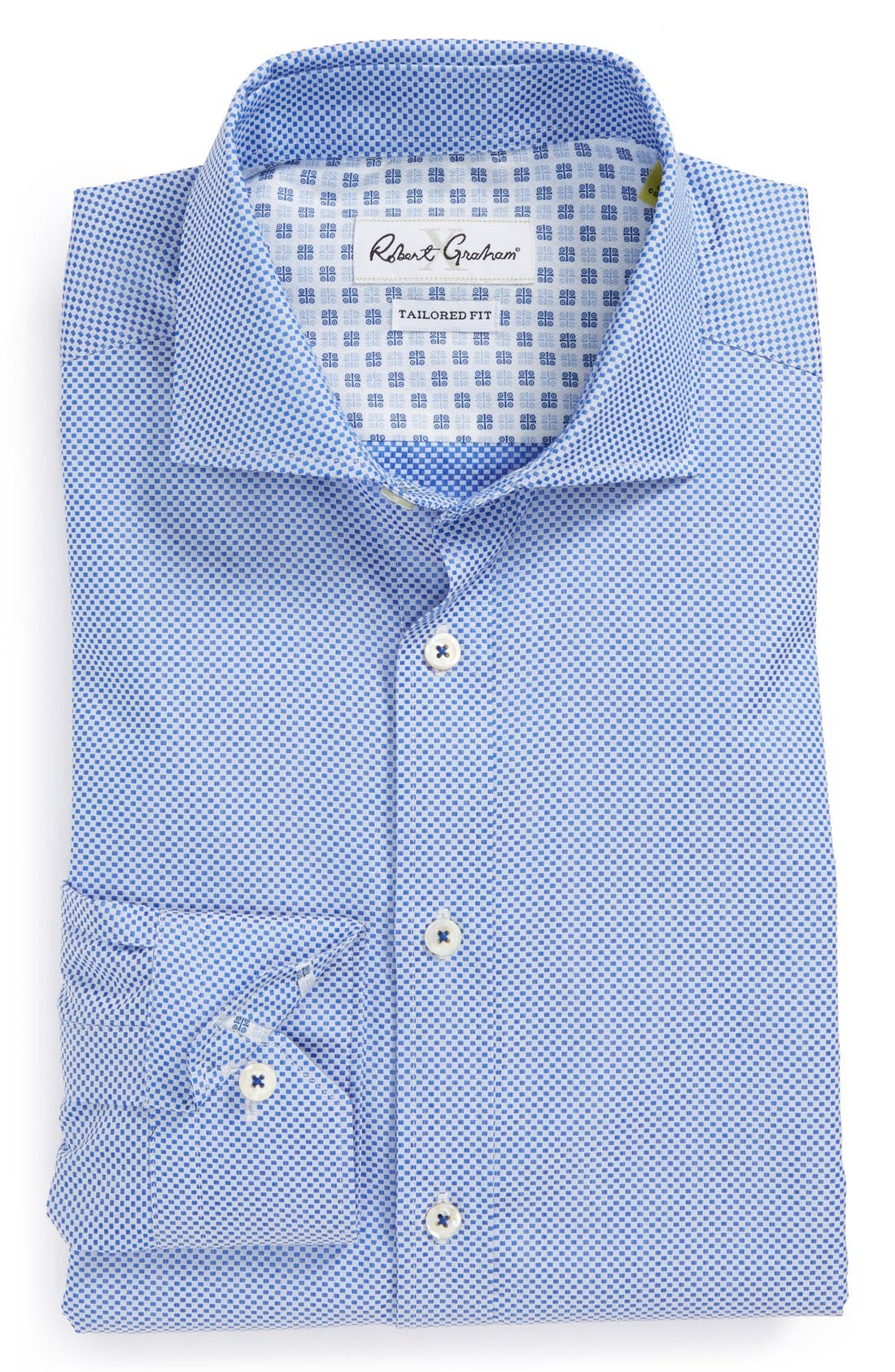 Main Image - Robert Graham 'Bologna' Tailored Fit Dot Dress Shirt