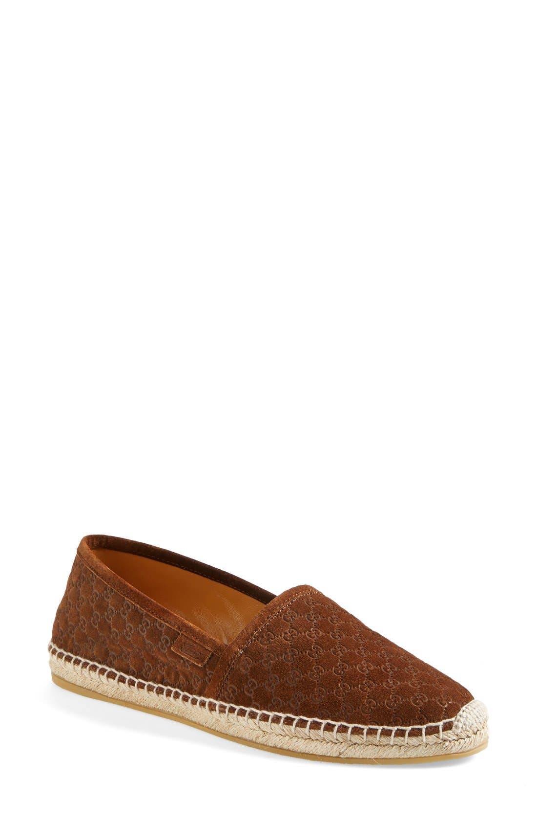 Alternate Image 1 Selected - Gucci Pilar Guccissima Espadrille Flat (Women)