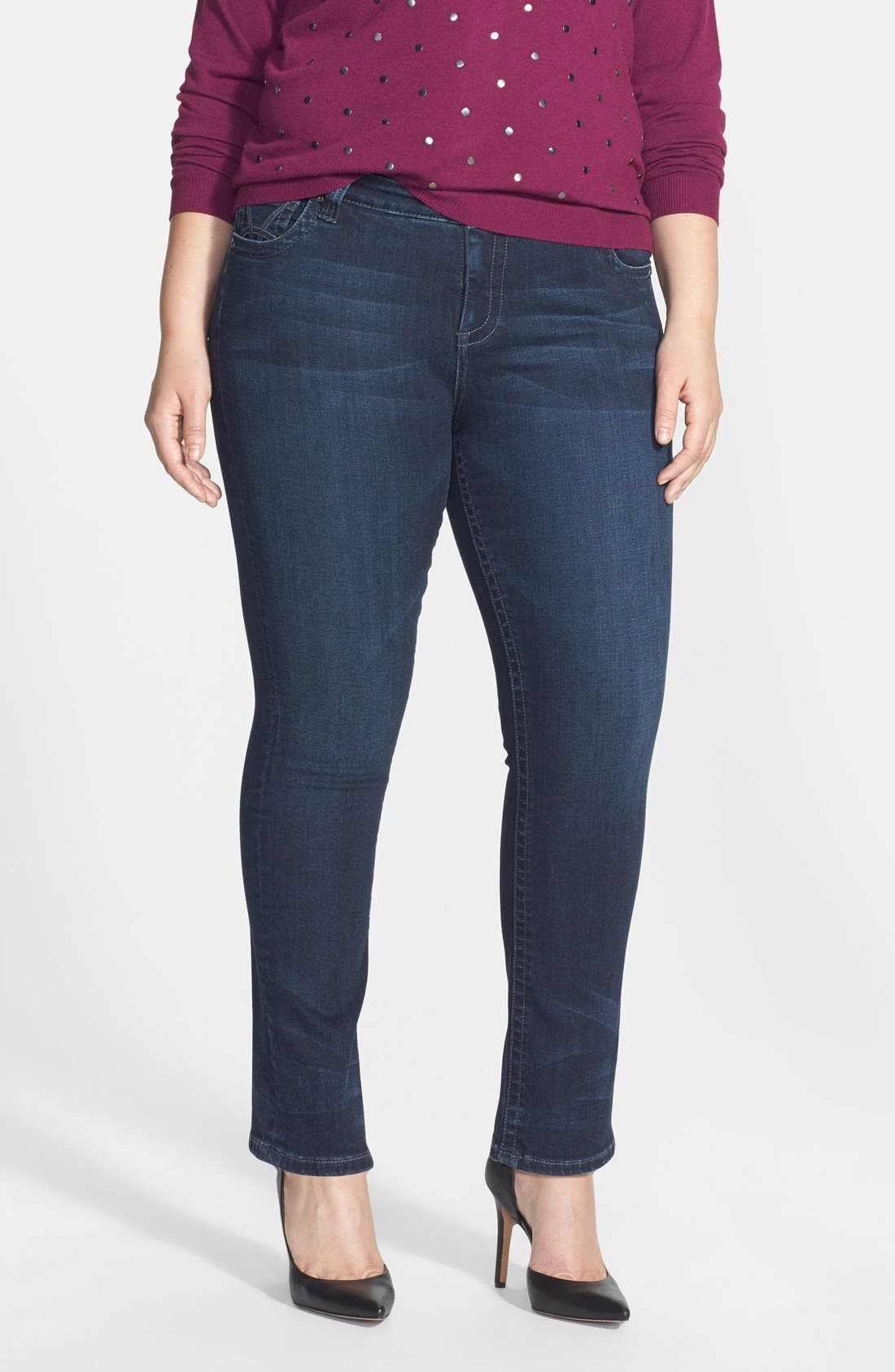 Alternate Image 1 Selected - KUT from the Kloth 'Stevie' Straight Leg Jeans (Progressive) (Plus Size) (Online Only)