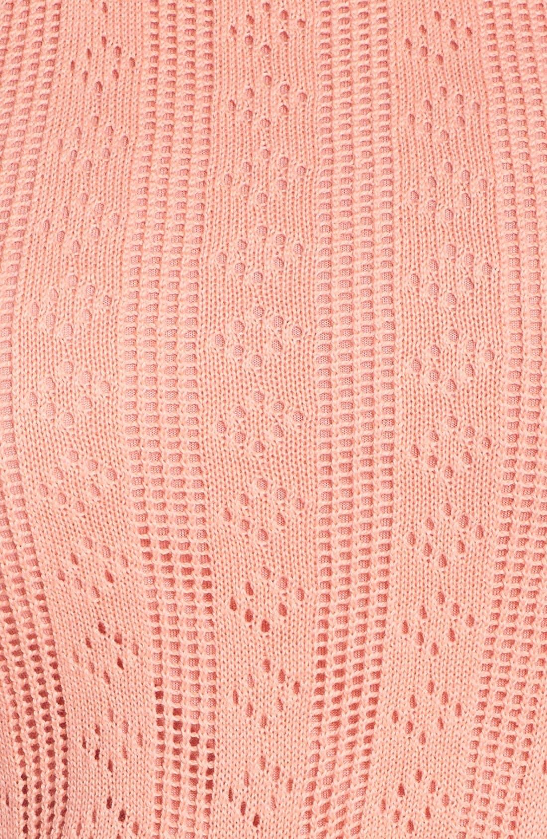 Alternate Image 4  - Trina Trina Turk 'Marcela' Cotton Pointelle Knit Dress