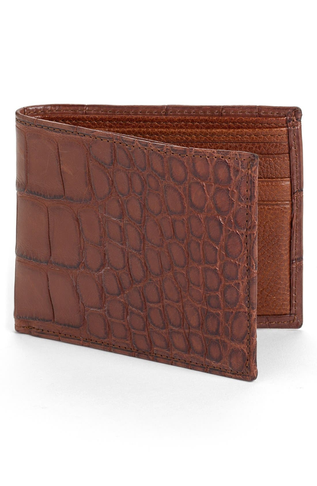 MARTIN DINGMAN Jameson Matte Finish Genuine Alligator Billfold