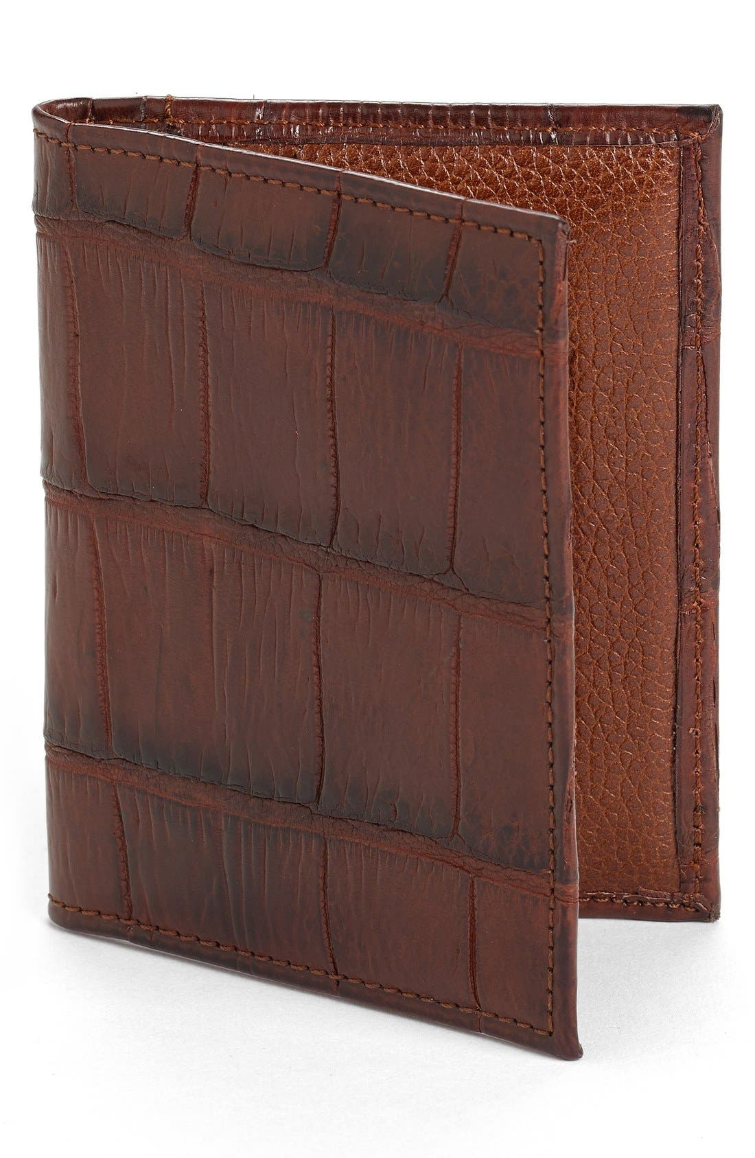 Martin Dingman Jameson Matte Finish Genuine Alligator Leather Wallet
