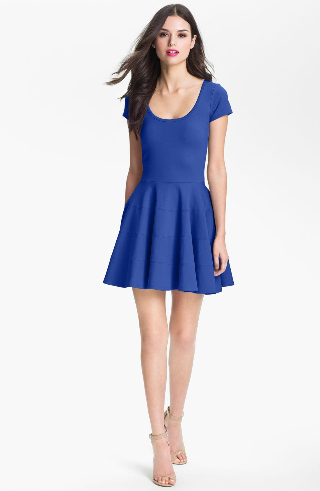 Alternate Image 3  - Felicity & Coco Ponte Knit Fit & Flare Dress (Nordstrom Exclusive)