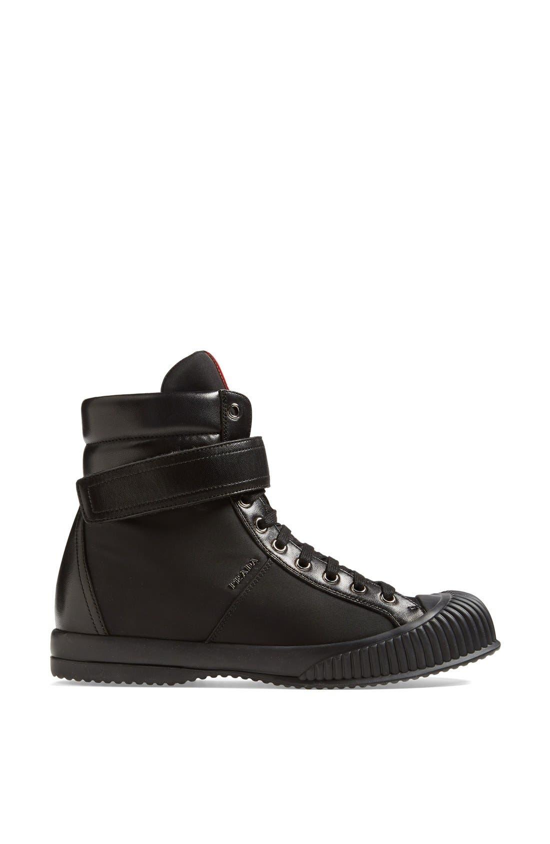 Alternate Image 4  - Prada Sport High Top Sneaker (Women)