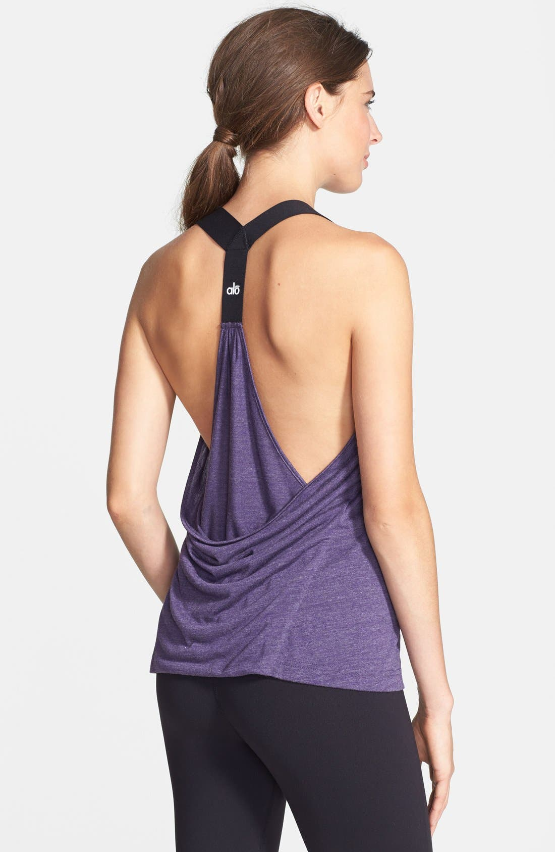 Alternate Image 1 Selected - Alo 'Raya' Draped Back Tank