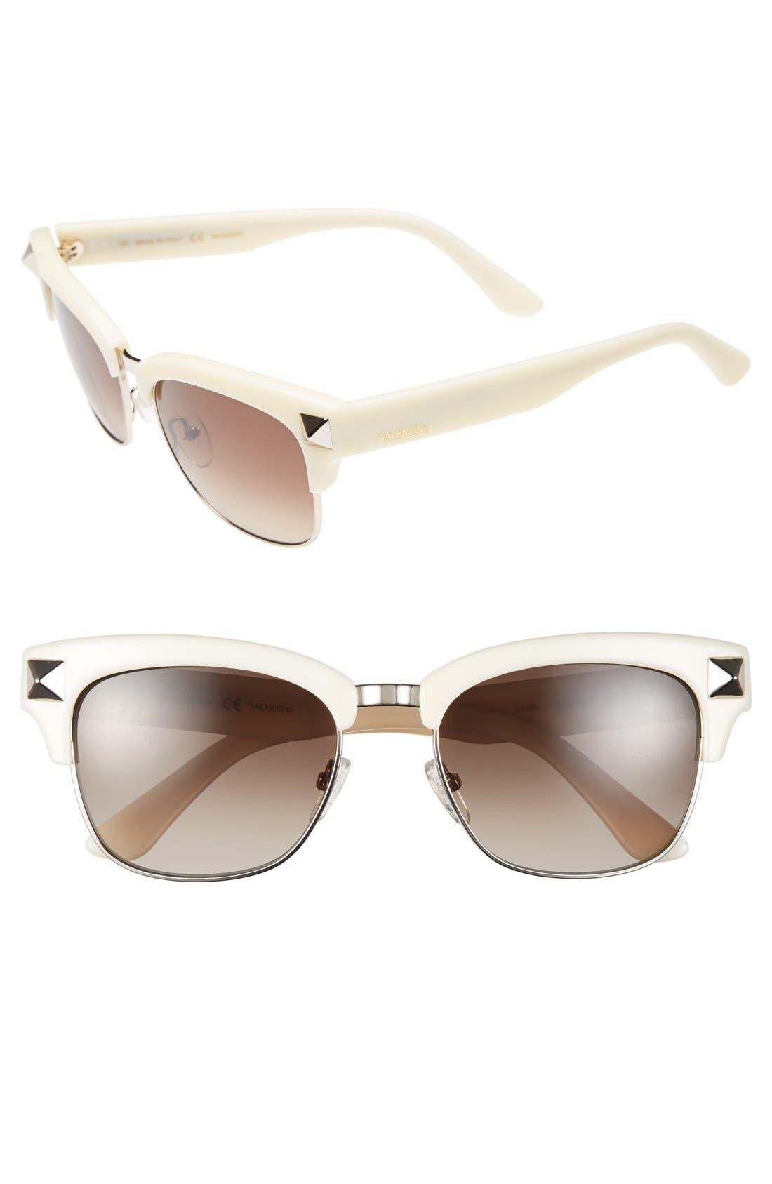 Main Image - Valentino 'Rockstud' 53mm Sunglasses