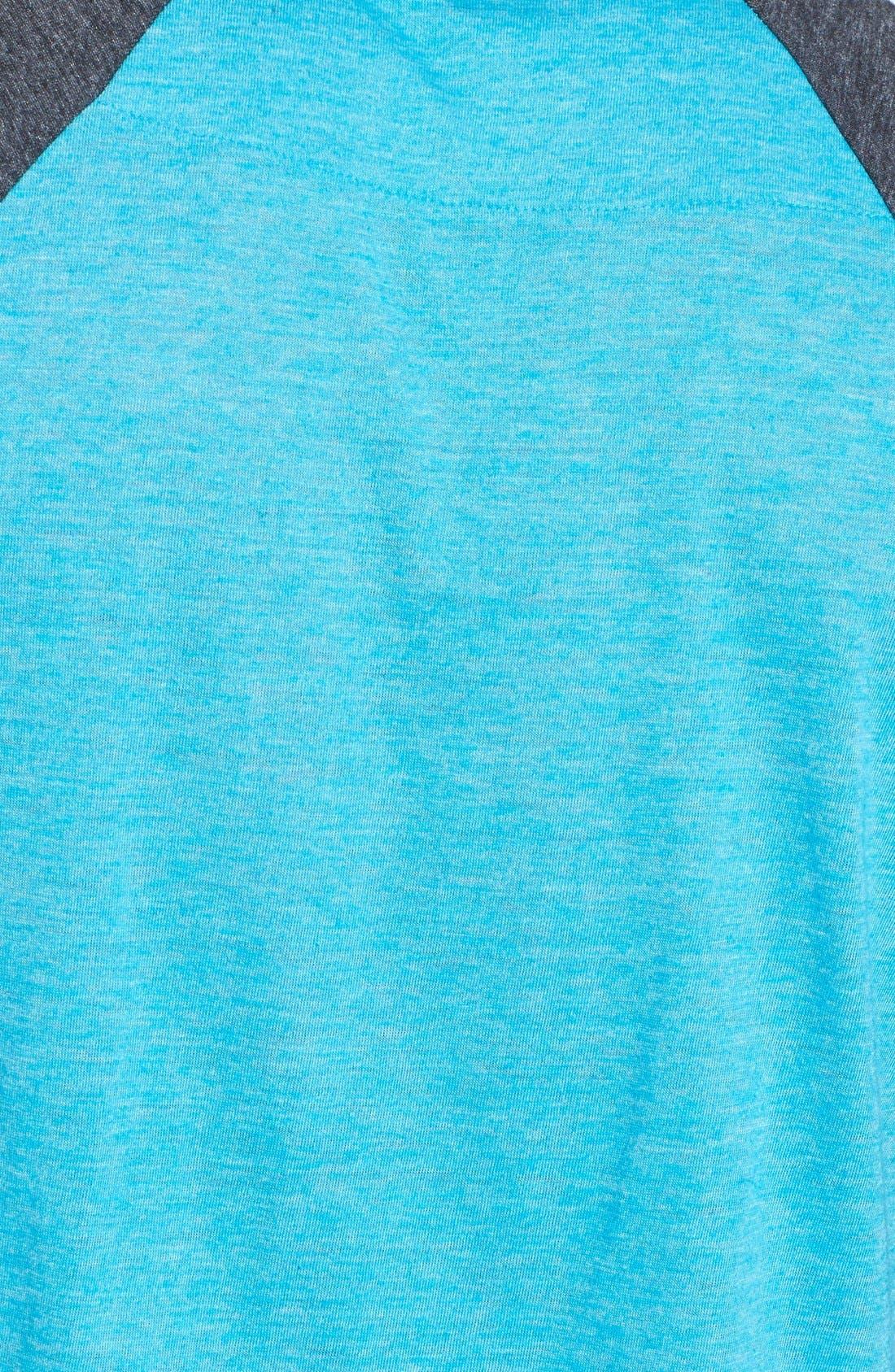 Alternate Image 3  - Mitchell & Ness 'Charlotte Hornets - Hustle Play' Tailored Fit Raglan Henley