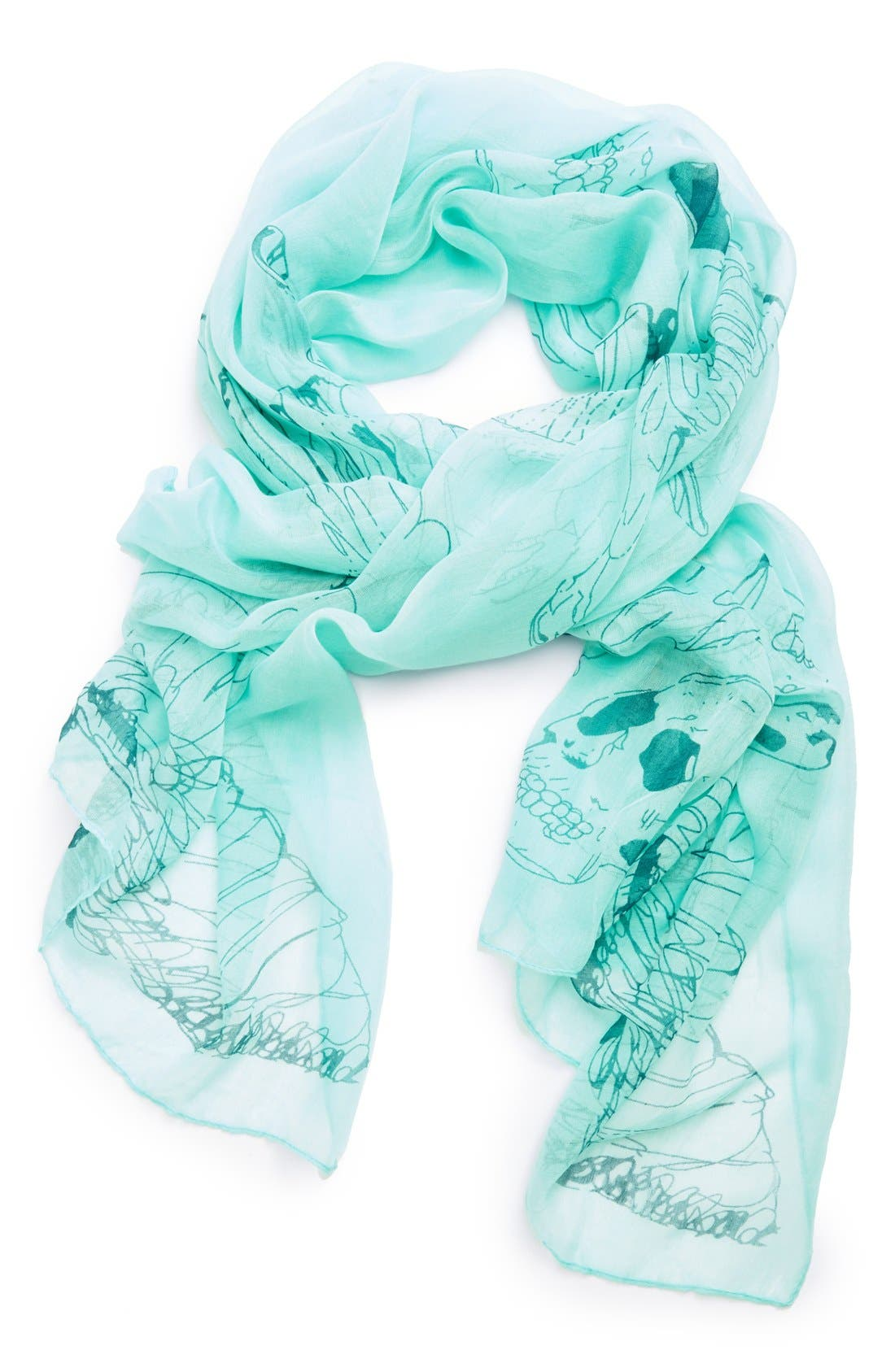 Alternate Image 1 Selected - Jules Smith Eagle & Skull Scarf