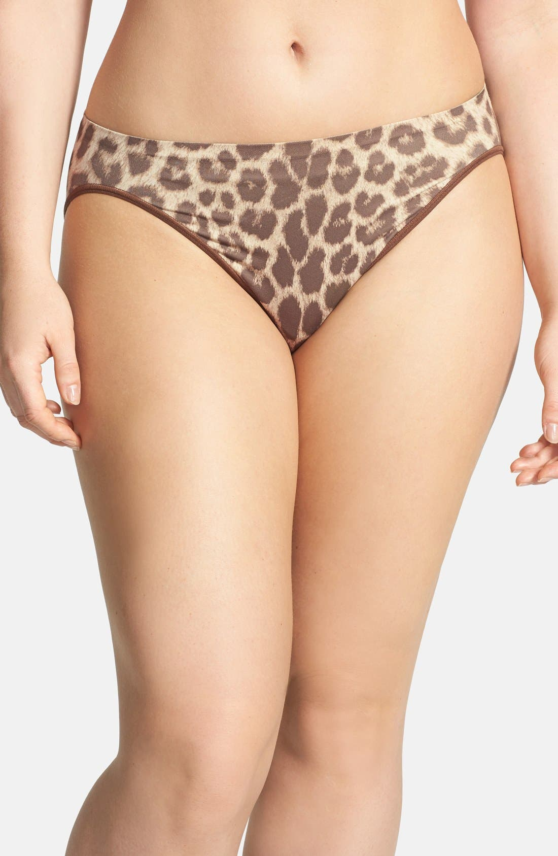 Main Image - Shimera Print Seamless High Cut Briefs (Plus Size) (3 for $30)