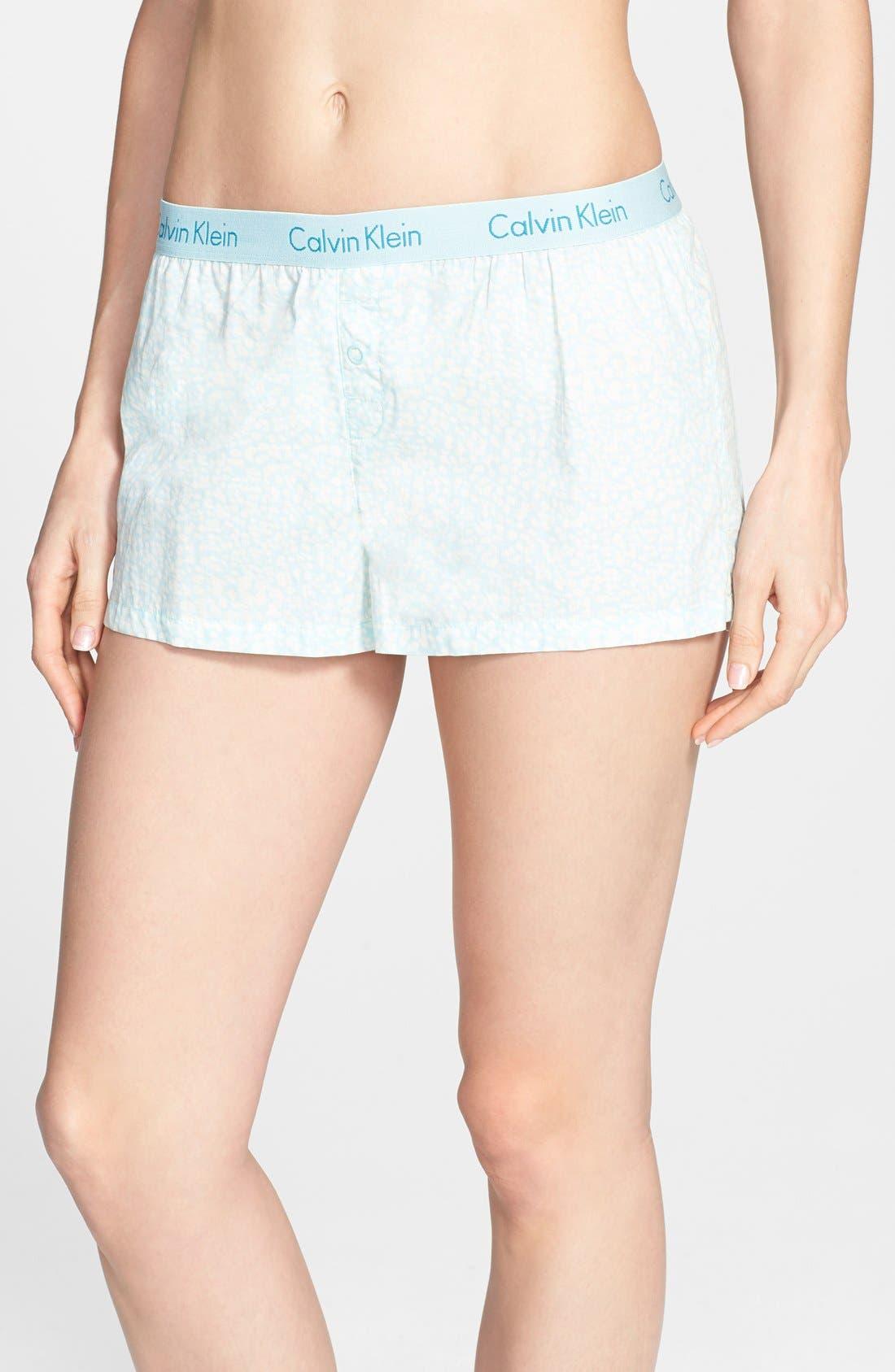 Alternate Image 1 Selected - Calvin Klein 'Cabachon Floral' Boxer Shorts