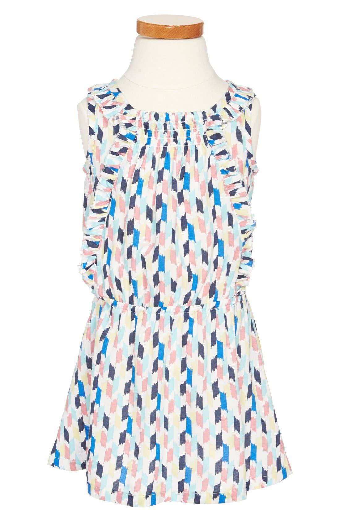 Main Image - Tucker + Tate 'Emeline' Ikat Print Dress (Toddler Girls, Little Girls & Big Girls)
