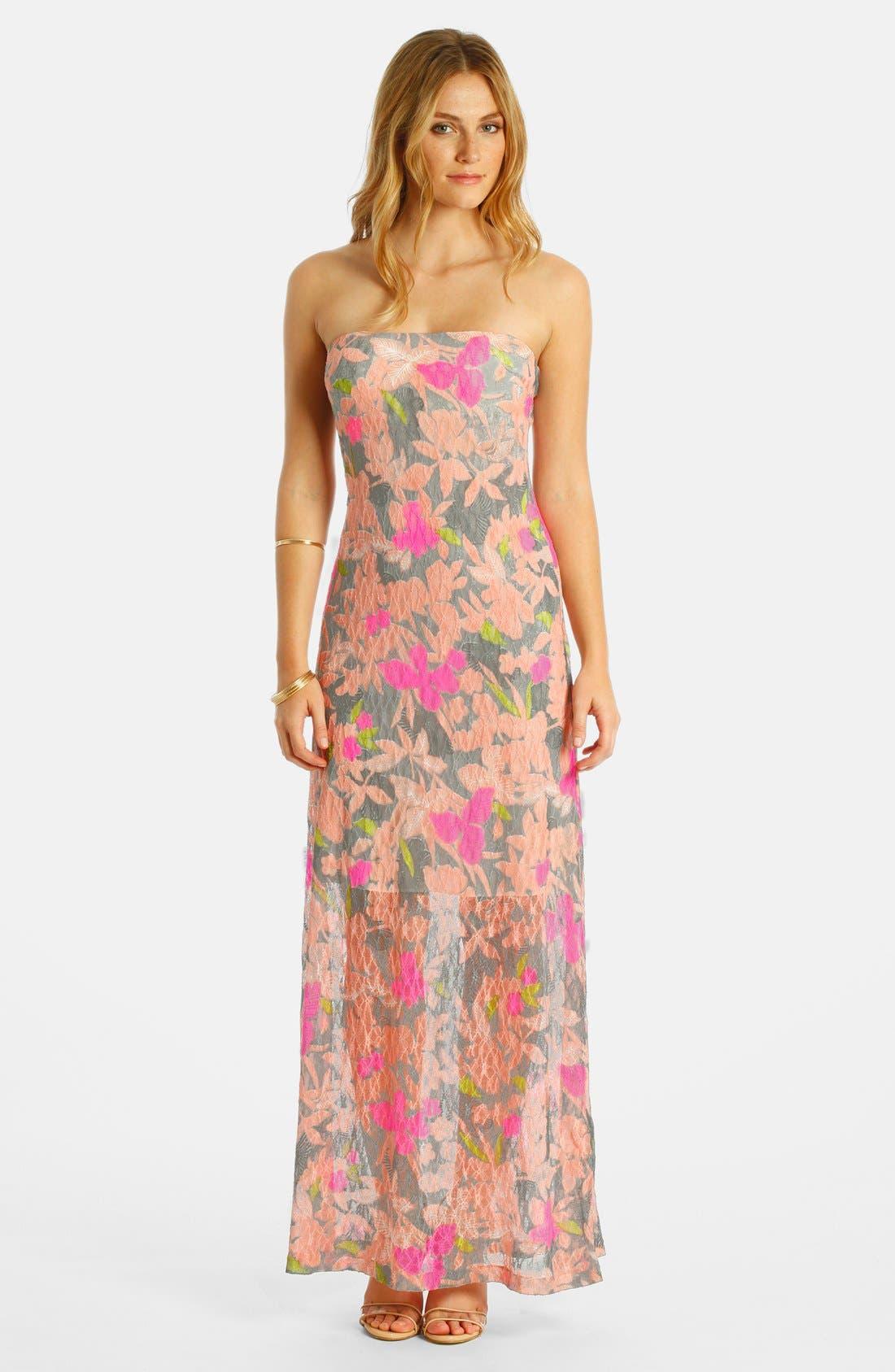Main Image - LABEL by five twelve Burnout Lace Maxi Dress
