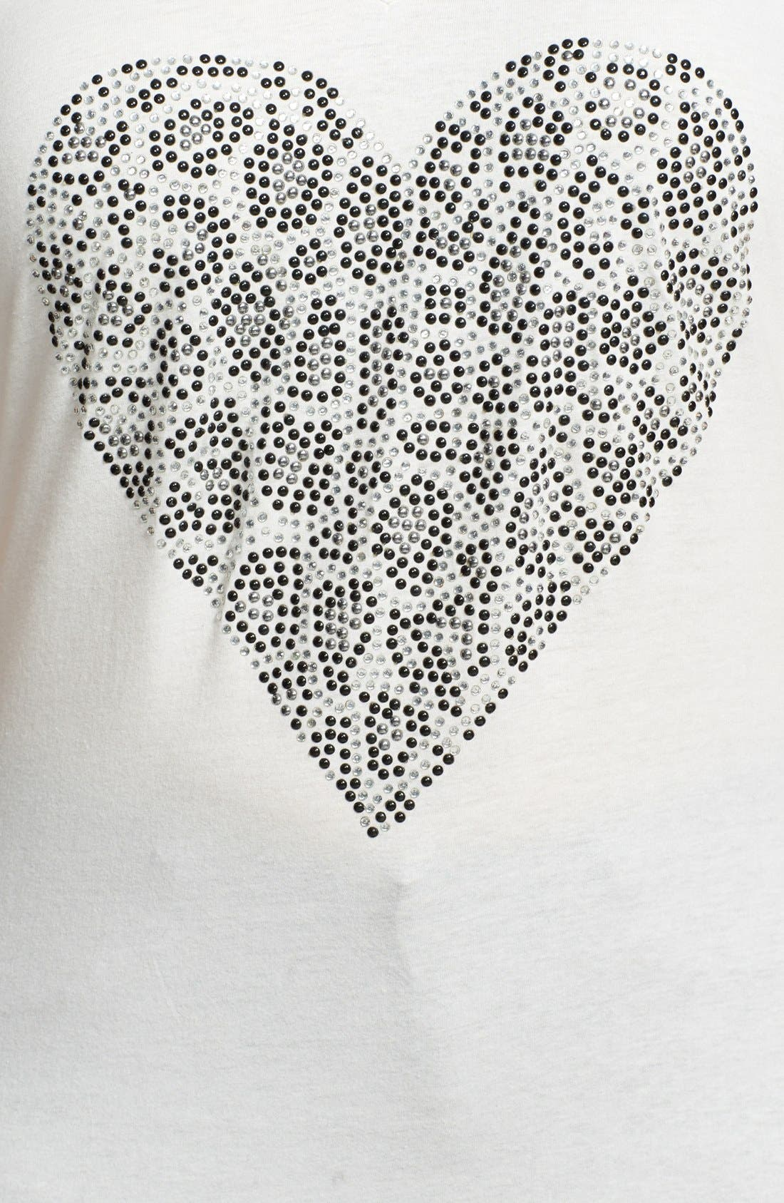 Alternate Image 3  - Seven7 Studded Heart Graphic Cotton Tee (Plus Size)
