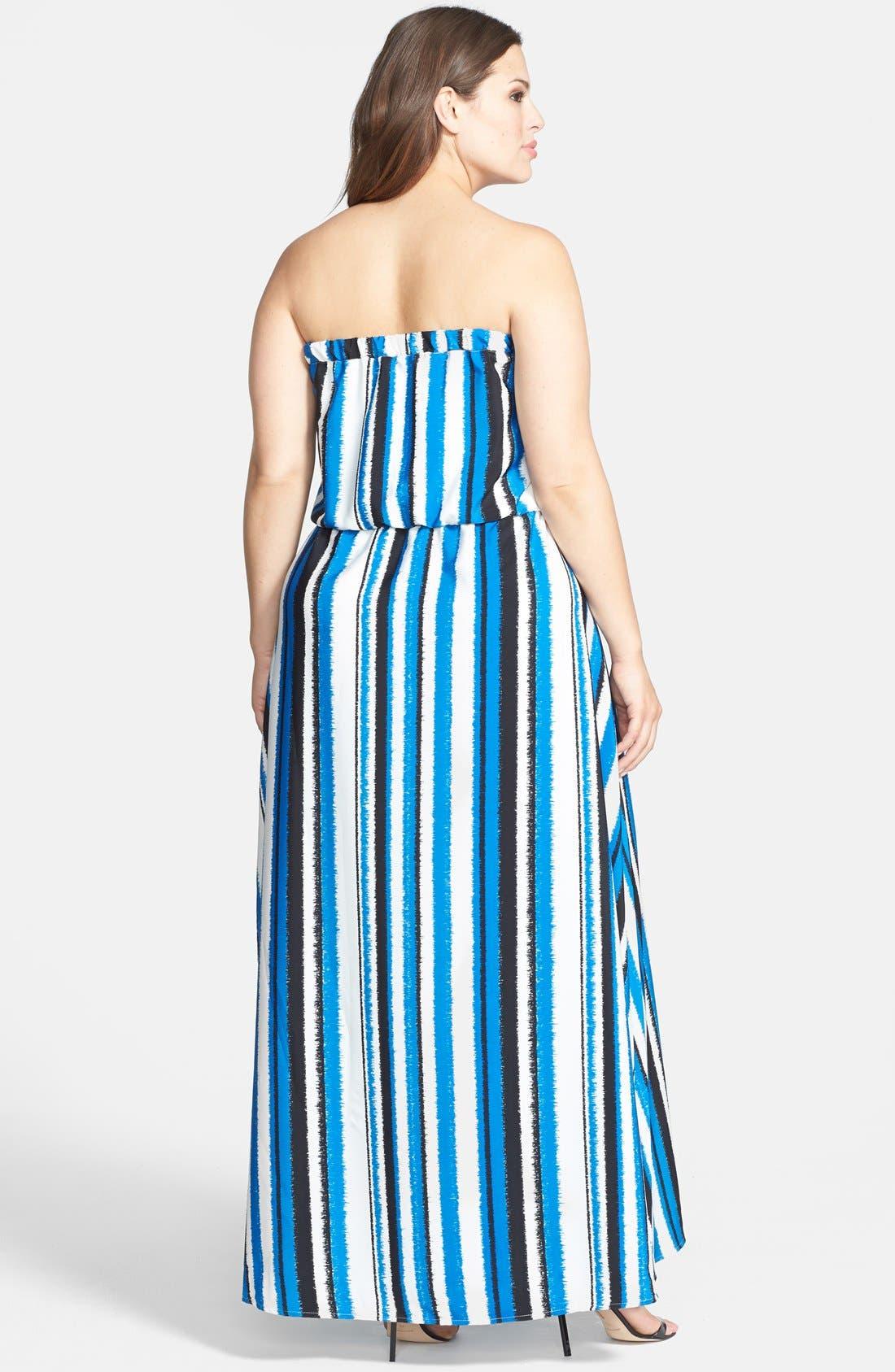 Alternate Image 2  - BB Dakota 'Zaida' Strapless Maxi Dress (Plus Size)