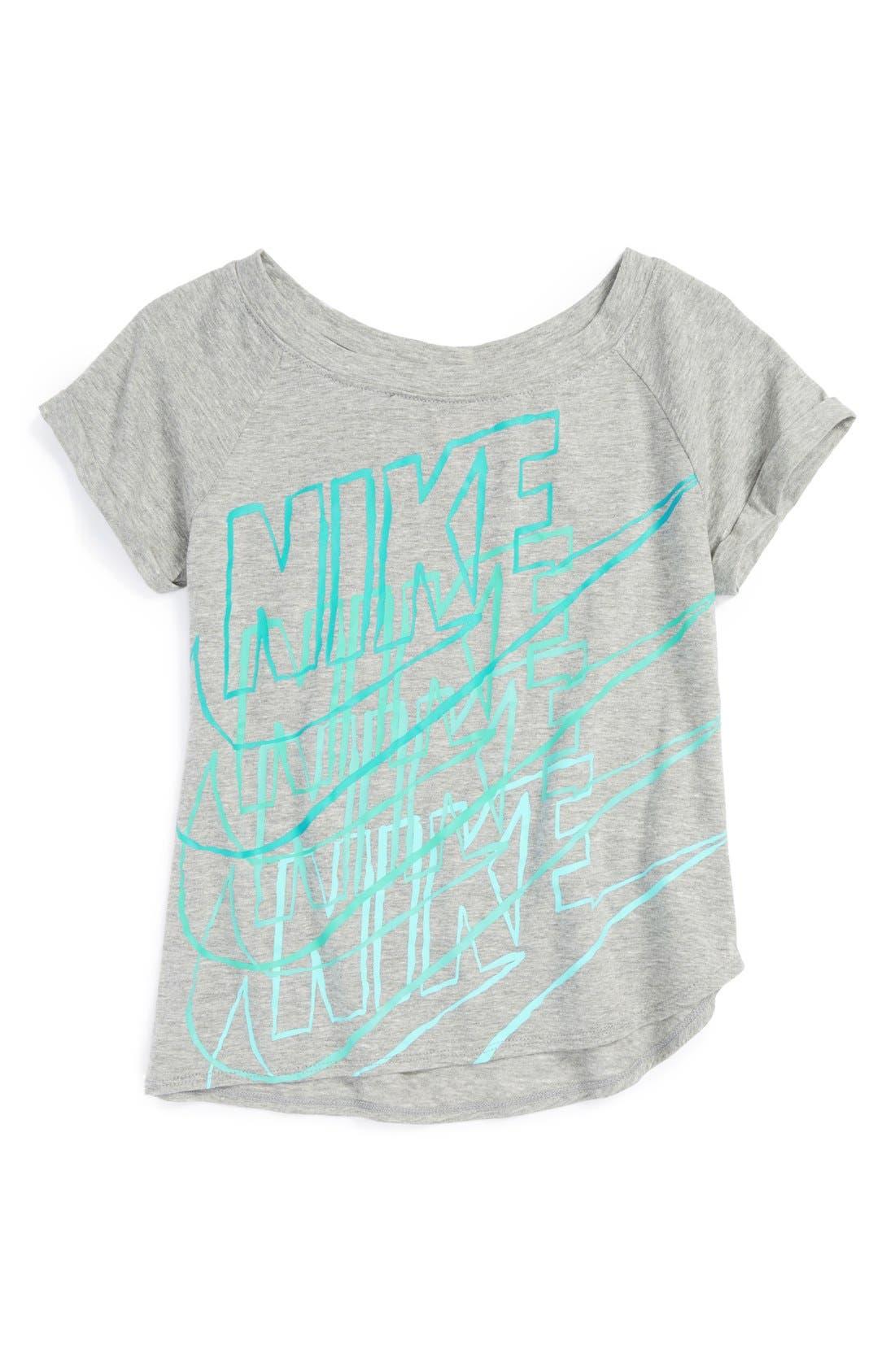 Alternate Image 1 Selected - Nike Graphic Tee (Little Girls & Big Girls)