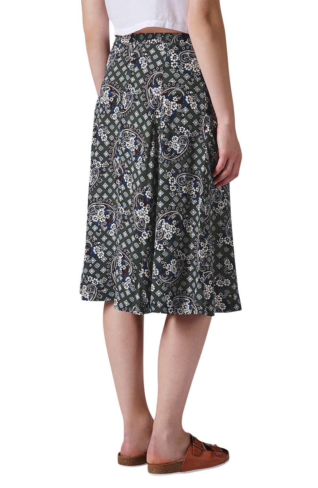 Alternate Image 2  - Topshop Tile Print Midi Skirt