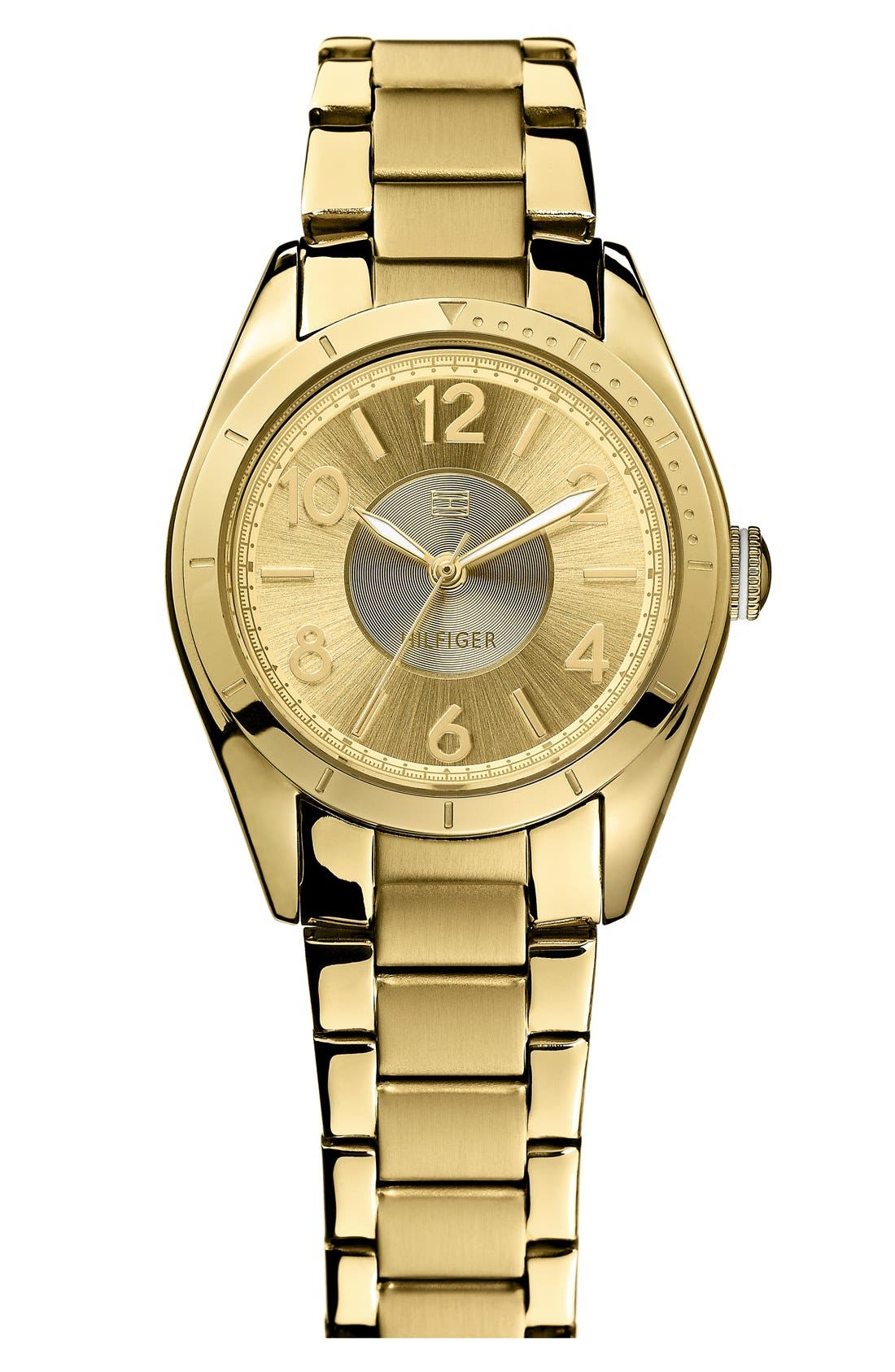 Alternate Image 1 Selected - Tommy Hilfiger Round Bracelet Watch, 30mm