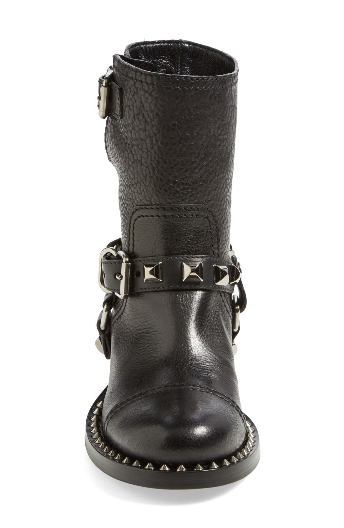 Alternate Image 3  - Miu Miu Studded Harness Moto Boot (Women)