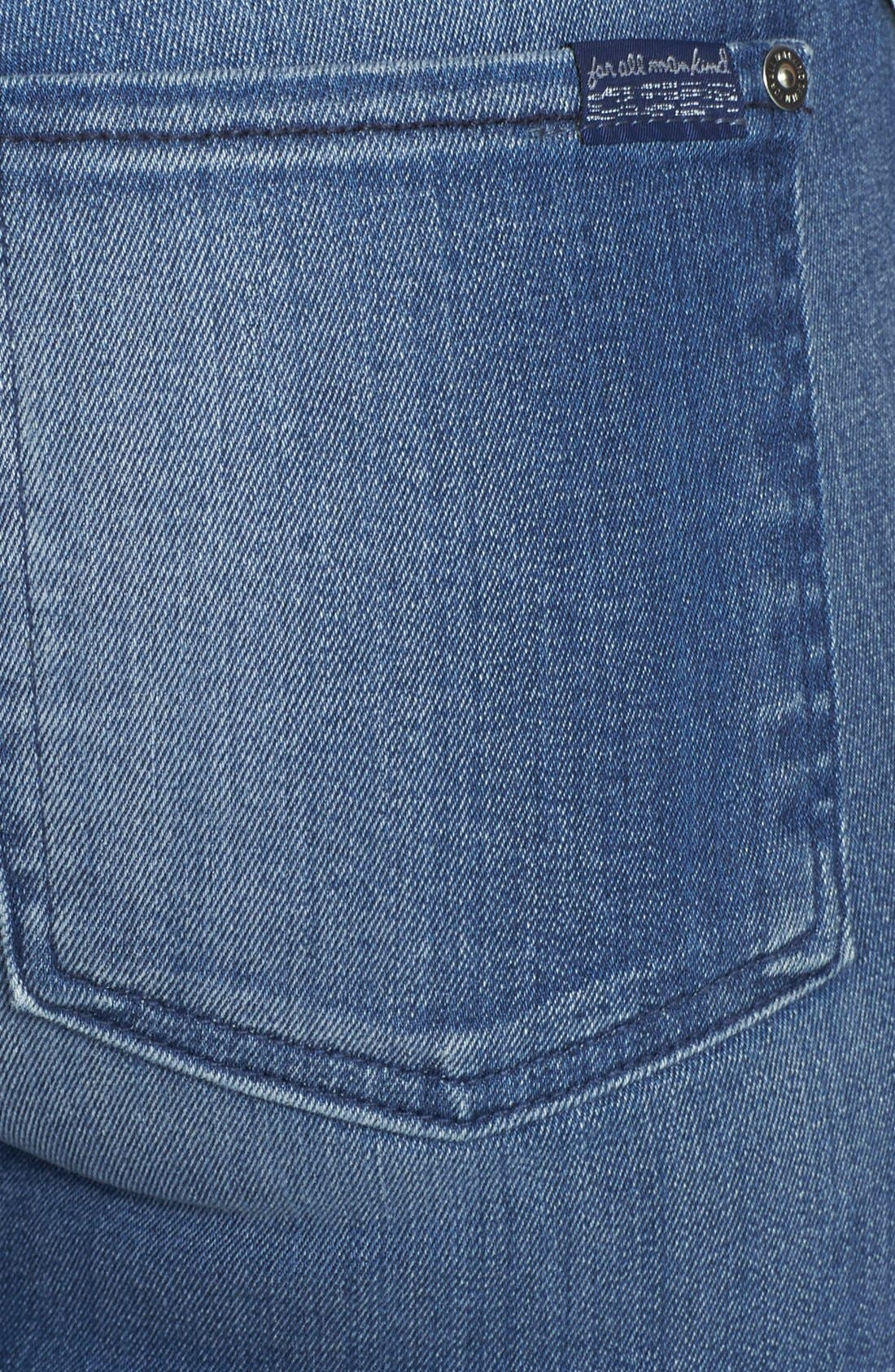 Alternate Image 3  - 7 For All Mankind® 'The Ankle' Skinny Jeans (Slim Illusion Bright Blue)