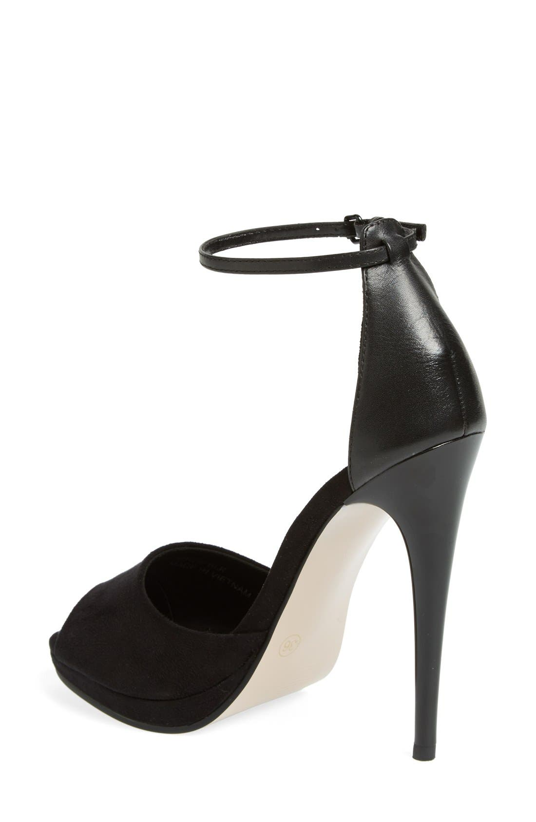 Alternate Image 2  - Topshop 'Ria' Ankle Strap Sandal (Women)