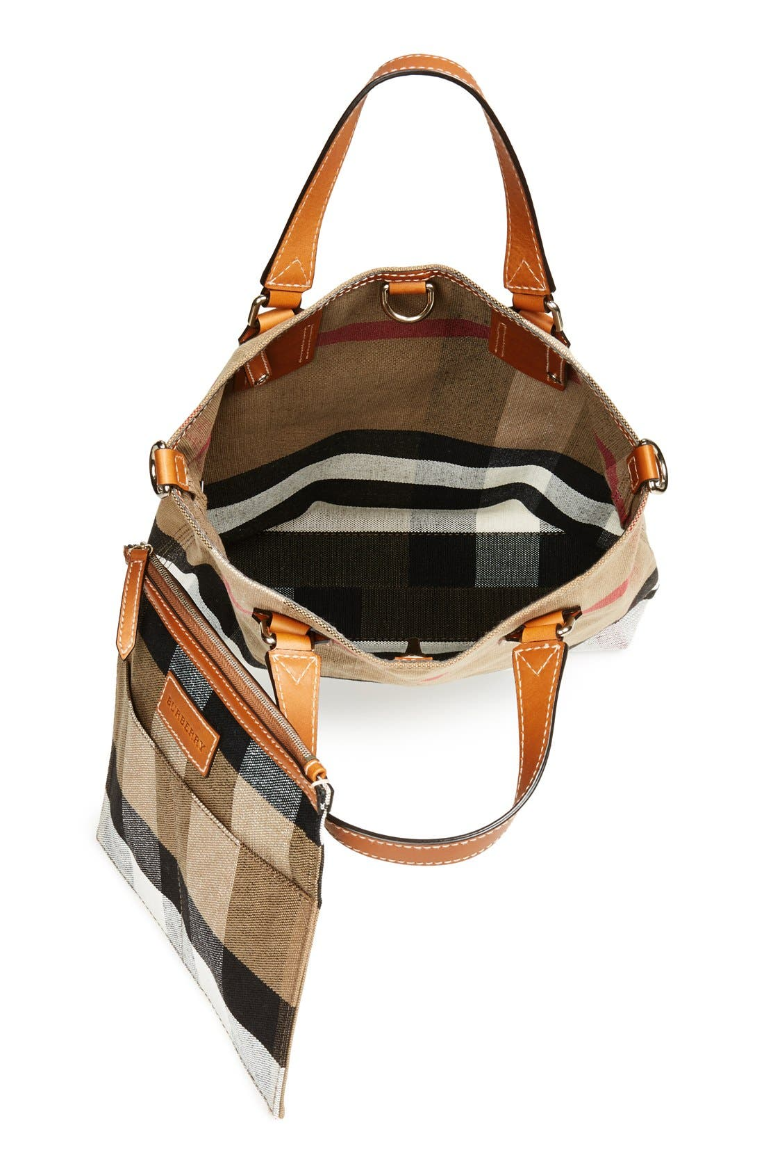 Alternate Image 3  - Burberry Brit 'Medium Tottenham' Check Print Bucket Tote