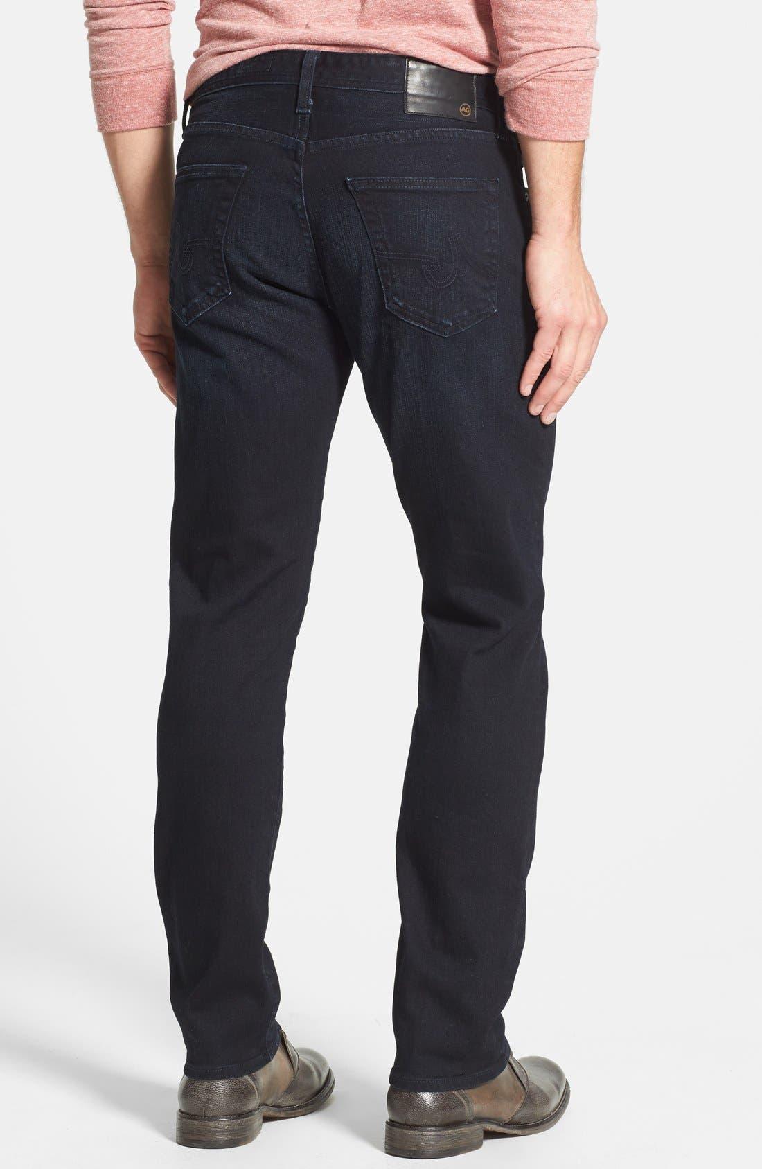 Alternate Image 2  - AG 'Graduate' Tailored Straight Leg Jeans (3 Years Deep Midnight)