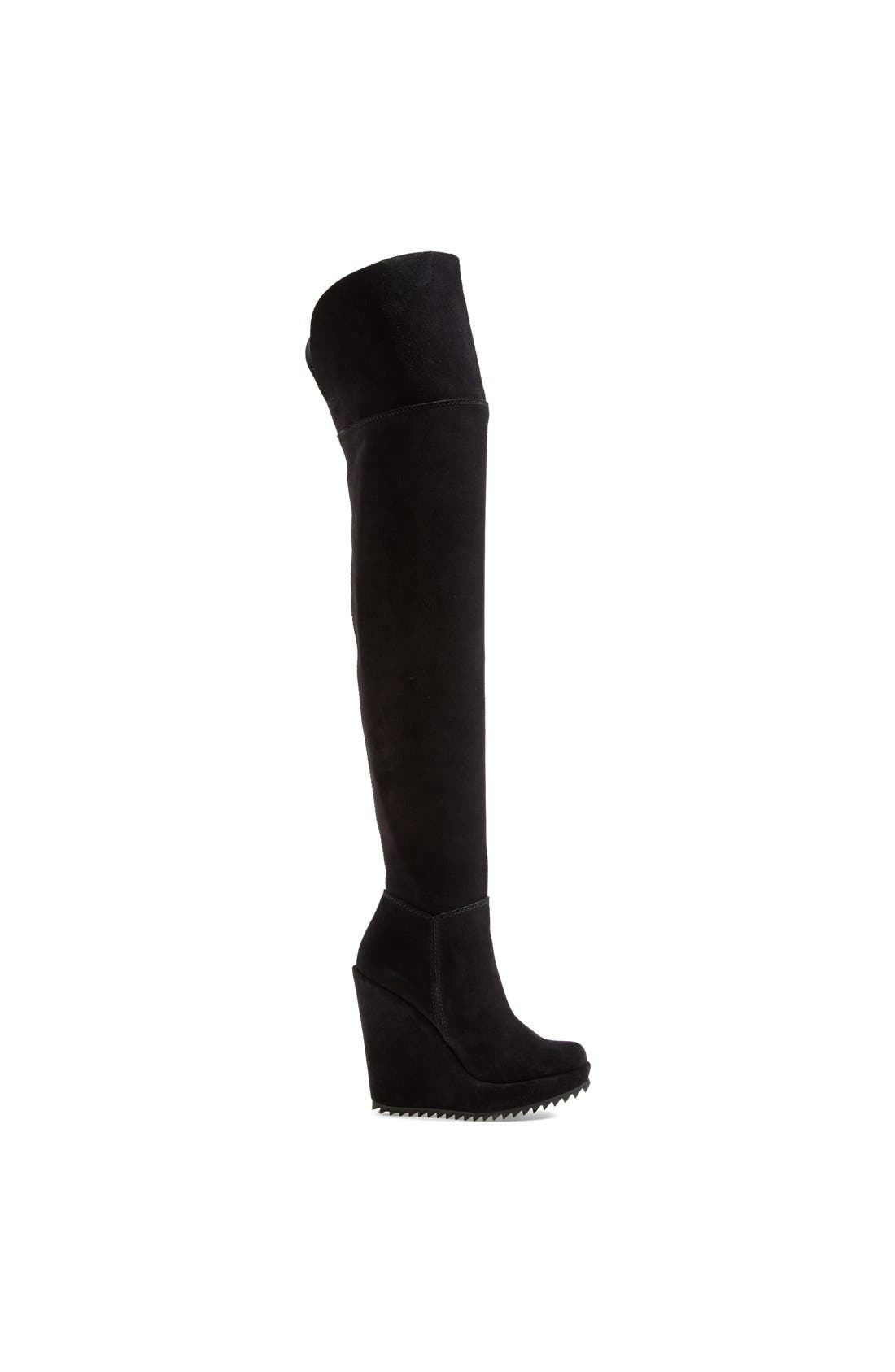 'Vanne' Over-the-Knee Boot,                             Alternate thumbnail 4, color,                             Black