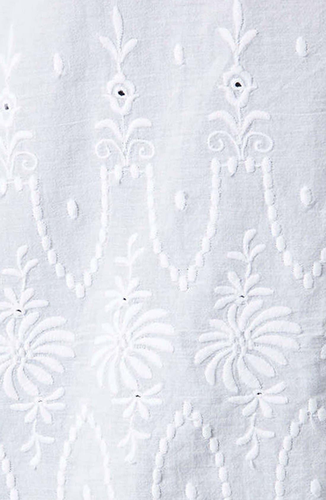 Alternate Image 4  - Topshop Embroidered Oversized Shirt