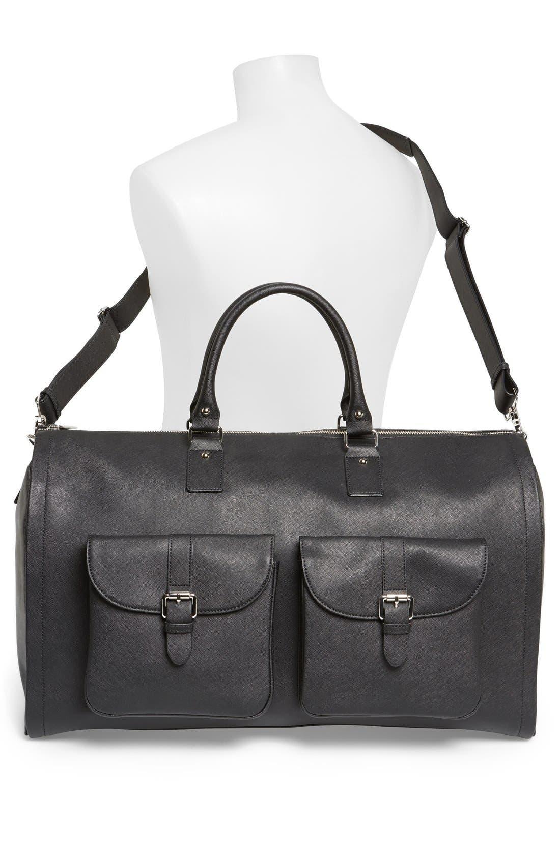 Alternate Image 2  - hook + ALBERT Saffiano Leather Garment/Duffel Bag