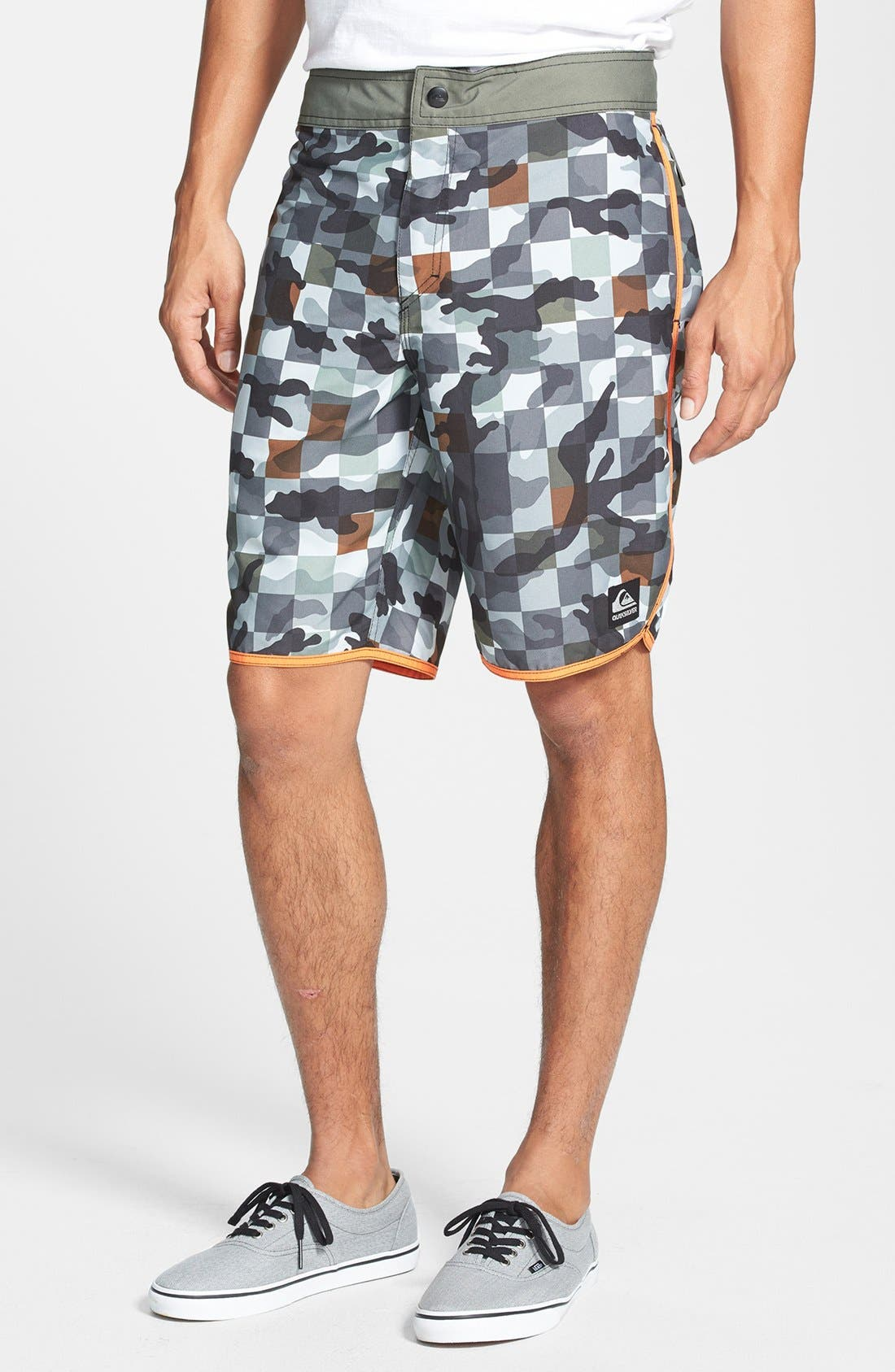 Alternate Image 1 Selected - Quiksilver 'Scallopuss' Print Hybrid Shorts