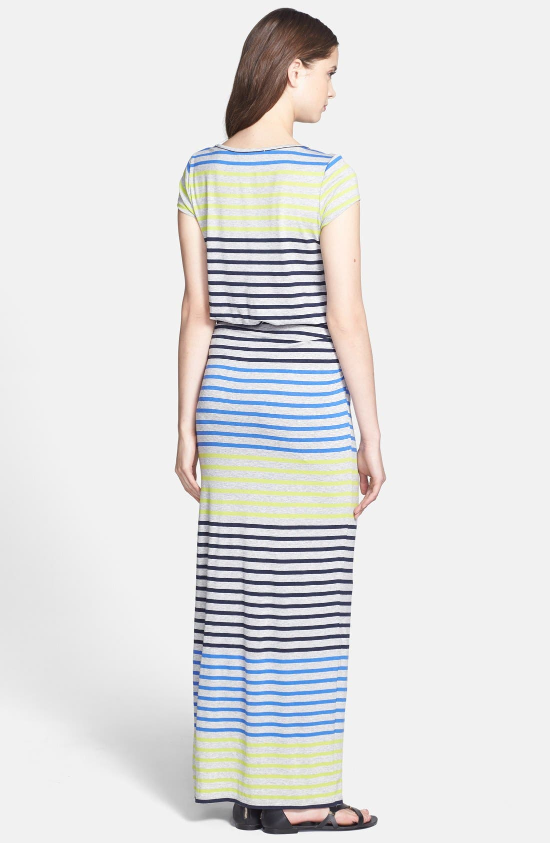 Alternate Image 2  - Everleigh Side Ruched Stripe Maxi Dress