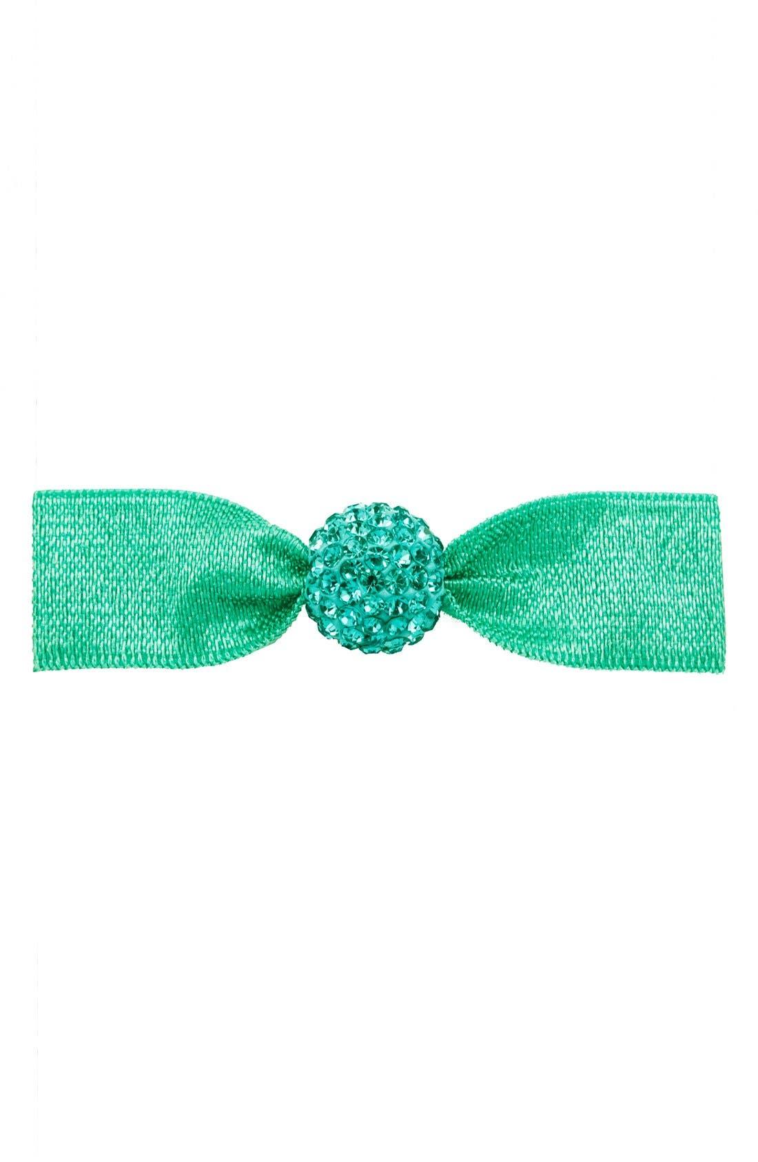 'Silver Crystal Bead' Hair Tie,                             Main thumbnail 1, color,                             Seafoam
