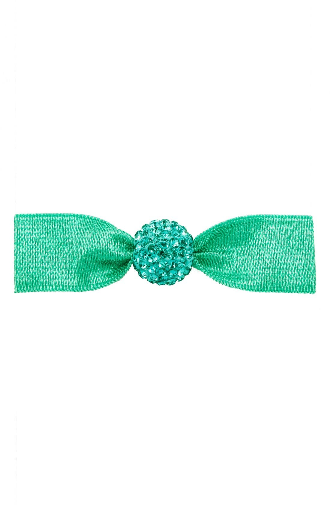 'Silver Crystal Bead' Hair Tie,                         Main,                         color, Seafoam