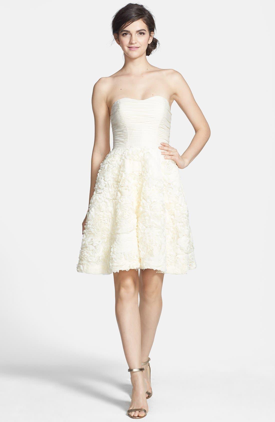 Alternate Image 4  - Ted Baker London 'Flawra' Rosette Detail Fit & Flare Dress