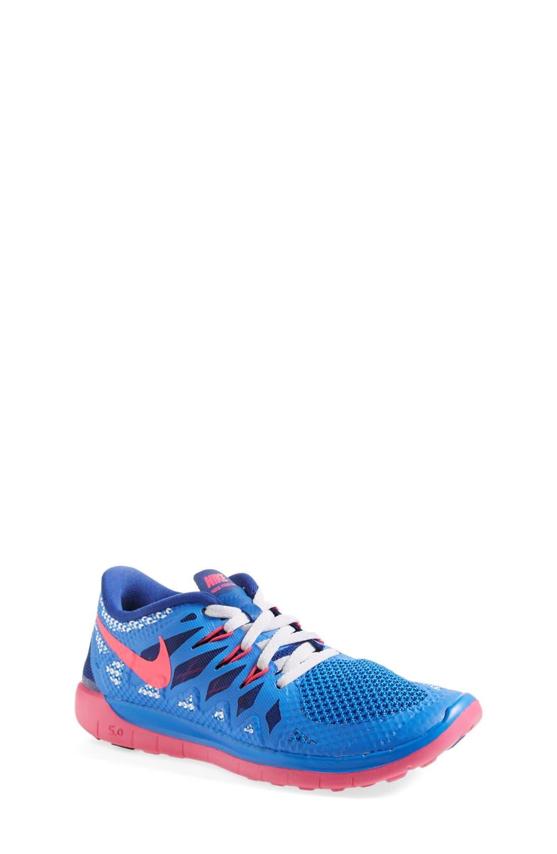 Alternate Image 1 Selected - Nike 'Free 5.0' Running Shoe (Big Kid)