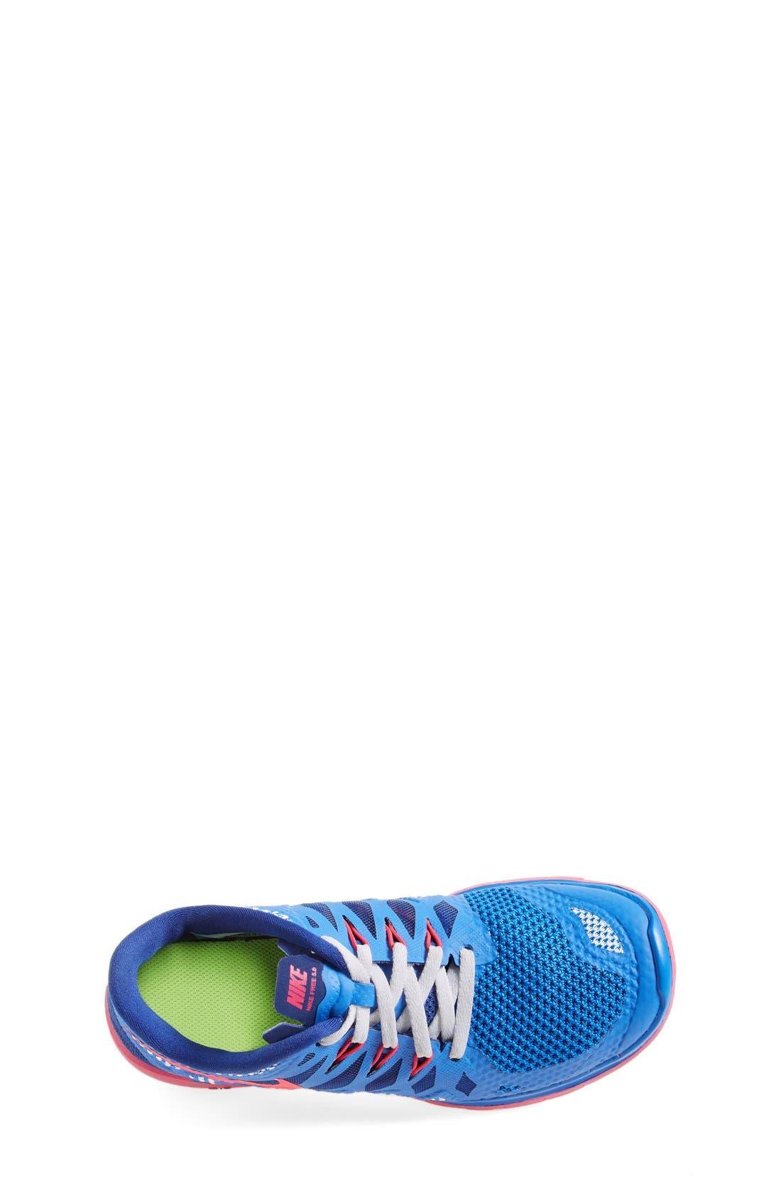 Alternate Image 3  - Nike 'Free 5.0' Running Shoe (Big Kid)