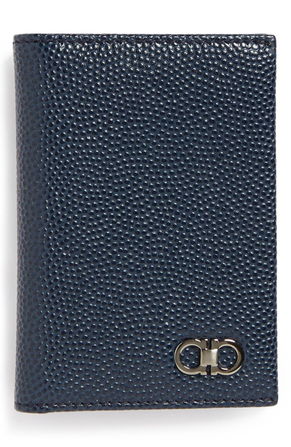 Main Image - Salvatore Ferragamo 'Ten Forty One' Leather Card Case