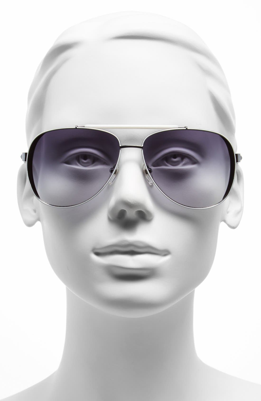 Alternate Image 2  - MICHAEL Michael Kors 'Kendall' 62mm Metal Aviator Sunglasses