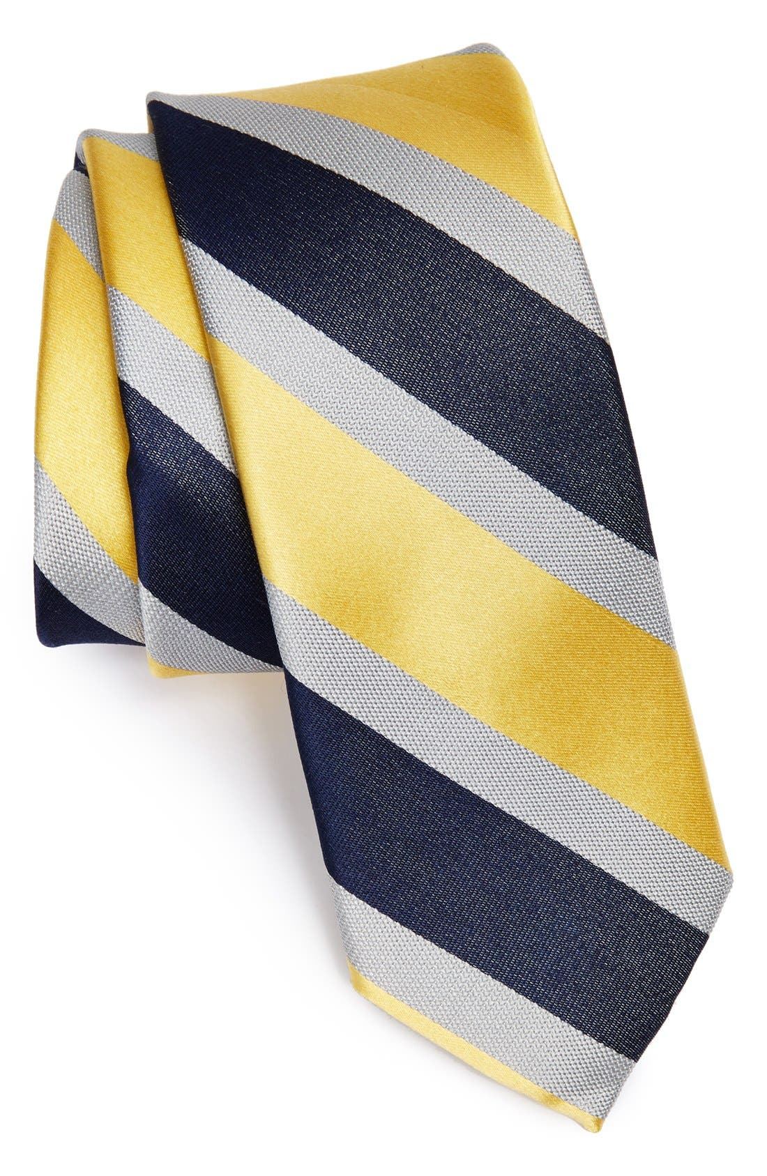 Woven Silk Tie,                             Main thumbnail 1, color,                             Yellow