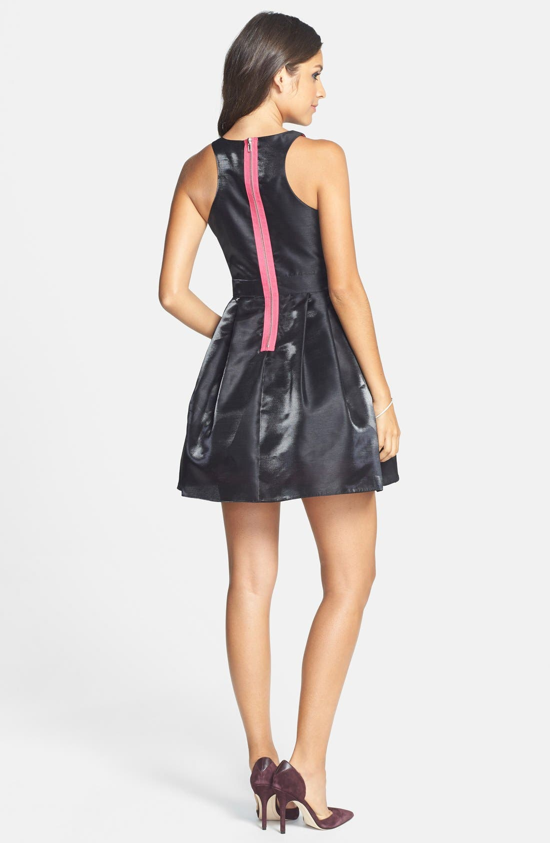 Alternate Image 2  - Hailey Logan Cutout Fit & Flare Dress (Juniors)